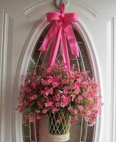 Spring Wreath, Front Door Wreaths, Summer Wreath, Boxwood Wreath, Valentines Wreath via Tracy King Ikebana, Deco Floral, Arte Floral, Wreath Crafts, Diy Wreath, Wreath Ideas, Diy Crafts, Spring Front Door Wreaths, Spring Door