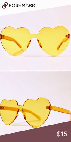 1fe20365c8f4 Trendy heart ♥ shaped sunglasses Very trendy sunglasses in yellow Accessories  Sunglasses Yellow Accessories