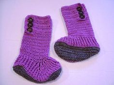Crocheted HighTop Slipper Boots for Teens and Adults