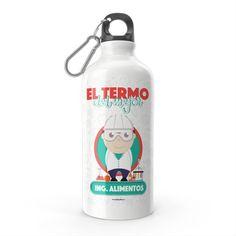 Termo - El termo del mejor ingeniero de alimentos, encuentra este producto en nuestra tienda online y personalízalo con un nombre. Water Bottle, Drinks, Engineer, Carton Box, Store, Food Items, Crates, Drinking, Beverages