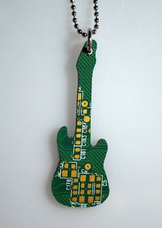Recycled electric guitar from computers chips by galbarash