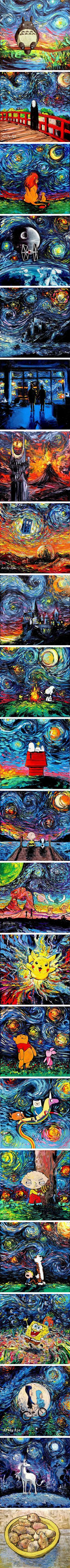 Artist's Painting Gets Mistaken For A Van Gogh, So She Creates Brilliant 'Starry Night' Series