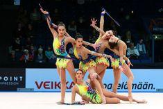 Group Spain, World Cup (Espoo) 2016 Gymnastics Camp, Amazing Gymnastics, Rhythmic Gymnastics, Sports Gif, Group Poses, Track And Field, World Cup, Ballerinas, Spanish