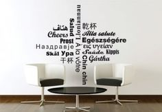 Decorate with words on walls
