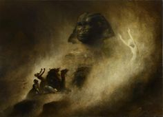Karl Wilhelm Diefenbach The Great Sphinx of Giza c.1903