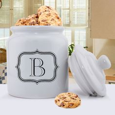 Personalized Monogram Cookie Jar (only $35!)