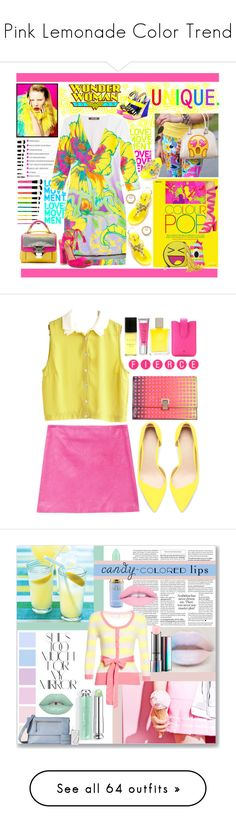 """""""Pink Lemonade Color Trend"""" by yours-styling-best-friend ❤ liked on Polyvore featuring Kim Kwang, Steve Madden, Joshua's, Walter Steiger, Roberto Cavalli, Lilly Pulitzer, Balenciaga, Paula Cademartori, Alexis Bittar and Skinnydip"""