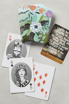 Floral Playing Cards - anthropologie.com