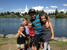 Rocktard, Cooper, Babytard, Sontard, and Princesstard with the temple where shay and colette got married (I think) Shaytards, Ohana, Wtf Funny, Marry Me, Old Pictures, Got Married, Make Me Smile, Youtubers, Temple