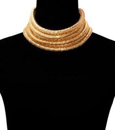 ON SALE Rope gold choker necklace Balmain paris by RegentCouture