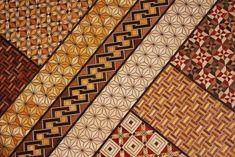 Japanese Yosegi woodcut pattern