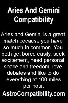 ARIES MAN AND GEMINI WOMAN COMPATABILITY