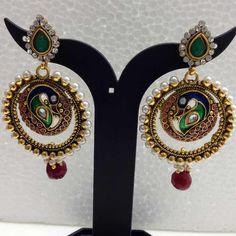 Find wide range of #Polki #kundan #victorian #american #earringforgirls online at Imitation Jewellery Online.