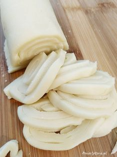 Kluski z ciasta na pierogi Dumplings, Pierogi, Food Porn, Food And Drink, Goodies, Cheese, Fruit, Vegetables, Cooking