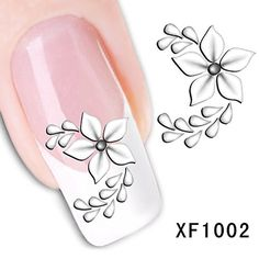 Generic Nail Art Tips Stickers False Nail Design Manicure Decals Nail Art Water Nail Art Decal Tattoo Sticker Flower Pack. There's No Toxins,No glue required. each one in A sealed card.This Package includes 10 cards. Can be used on natural or false nails. 3d Nail Art, Nail Art Hacks, Nail Art Tools, Water Nail Art, Water Nails, Nail Art Stickers, Nail Decals, Foil Nails, 3d Nails