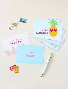 the cutest Southern postcard set to send to bridesmaids and besties! ($10)