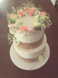 Beautiful rustic cake made by my talented friend.  White chocolate and red velvet with a raspberry twist.