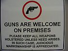 Larry   Metal - Guns are welcome on premises