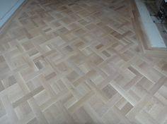 Whitewash basket weave parquet floors