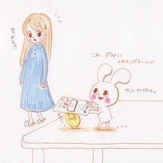 ようやく全ての年賀状を投函できましたお待たせしました  I finished posting all new year's card. thank you for waiting  #うさぎ #ひよこ #キャラクター #イラスト #キャラ #モチうさぎ #ピヨ丸 #年賀状 #投函  #rabbit #chick #bird #tiny #character #lovely #animals #illustration  #mochirabbit #piyomaru #newyearscard #post