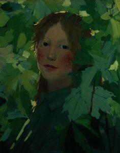 David Gauld (1865-1936): Menina Entre Folhas, 1893