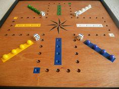 Aggravation Game Board Wood Aggravation Board. by JohnnyUNamath