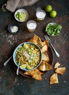 Esquites is a delicious Mexican Street food salad recipe on DrizzleandDip Corn Salad Recipes, Corn Salads, Snack Recipes, Snacks, Think Food, Food For Thought, Mexican Corn Salad, Mexican Street Food, Mexican Food Recipes