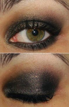 mac hocus pocus (the antique silver) with some brown in the hollow and black in the outer corner.