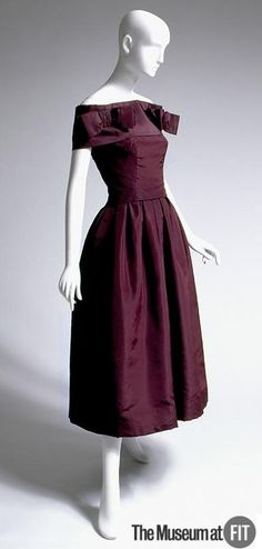 Evening Dress, Christian Dior  (French, founded 1947): ca. 1953-1954, French, silk faille.