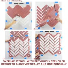 Try this trendy Herringbone Brick pattern stencil for your next DIY home decoration project. Using stencils instead of wallpaper saves you money and brings unique style to any room in your home. Stencil patterns for DIY decor, wall stencils at great price Brick Patterns, Stencil Patterns, Stencil Designs, Wall Patterns, Style Patterns, Large Wall Stencil, Large Stencils, Wallpaper Stencil, Modern Wallpaper