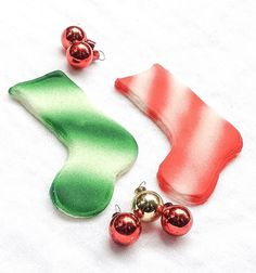 Merry Christmas Sugar Fun Stockings 2 Unique by SugarFunOrnaments