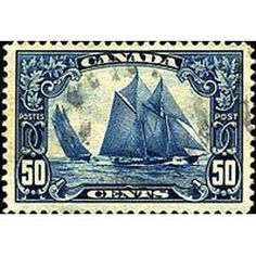 Regarded as the most beautiful and rare Canadian stamp, it was printed by the Canadian Bank Note Company to depict the Bluenose, a schooner (racing ship) from Nova Scotia.