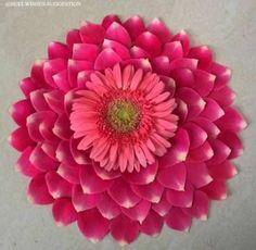 Flowers Arrangements Unique 30 Ideas For 2019 Flower Rangoli Images, Simple Flower Rangoli, Rangoli Designs Flower, Rangoli Ideas, Rangoli Designs Diwali, Rangoli Designs Images, Beautiful Rangoli Designs, Simple Flowers, Flower Designs