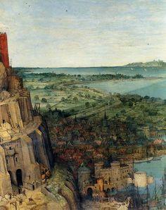 Pieter Bruegel the Elder. Tower of Babel. Detail.