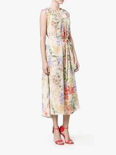 Shop Rochas floral print dress from our Cocktail & Party Dresses collection. Kate Middleton, Dress Collection, Party Dress, Floral Prints, Summer Dresses, Brown, Shopping, Fashion, Rocks