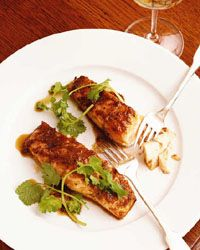 pan roasted salmon with soy ginger glaze