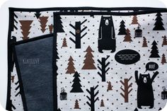 sweatshirt baby blanket with bears and forest theme