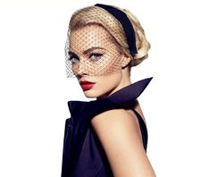 Margot Robbie, star of The Wolf of Wall Street, channeling Old Hollywood glamour in Giorgio #Armani