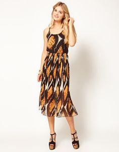 Jovonnista Printed Midi Dress