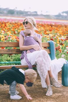 Barefoot Blonde Amber baby wearing with Solly Baby Wrap in Berry Little Babies, Cute Babies, Atticus, Amber Fillerup, Barefoot Blonde, Baby Wraps, Thing 1, Mother And Child, Shades Of Purple