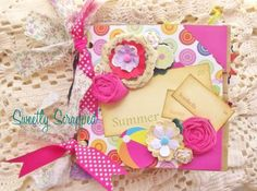 Sweetly Scrapped: New Summer Mini Album with Vintage Flashcards