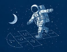 Astronaut Hopscotch by ben6835, via Flickr