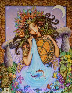 Maîtresse de Chalice Well une carte de voeux de par HollySierraArt
