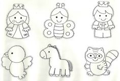 would be cute as puppets Coloring Sheets, Coloring Books, Coloring Pages, Felt Crafts, Crafts To Make, Paper Crafts, Teacher Stamps, Quiet Book Templates, Fairy Tale Theme