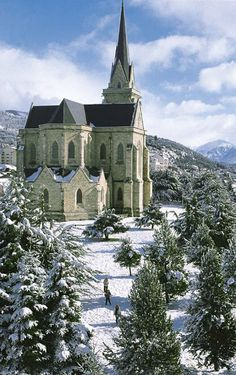 The Cathedral of San Carlos de Bariloche, Our Lady of Nahuel Huapi, San Carlos de Bariloche in Black River, Argentina: Bariloche is the most visited city in Argentine Patagonia. by Dexxter Beautiful Buildings, Beautiful Places, Places To Travel, Places To See, Cathedral Church, Old Churches, Church Building, Chapelle, Place Of Worship