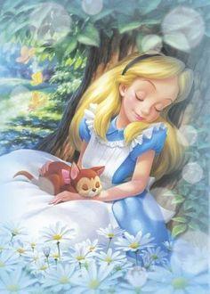Alice and Diana. disney alice in wonderland Disney Pixar, Disney Cast, Disney Animation, Disney And Dreamworks, Disney Magic, Disney Characters, Alice Disney, Disney Princesses, Funny Disney