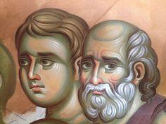 Iconographer Dimitris Maniatis – icoana Orthodox Icons, Hair Designs, Vignettes, Fresco, Drawings, Drawing Faces, Mai, Blog, Bodies