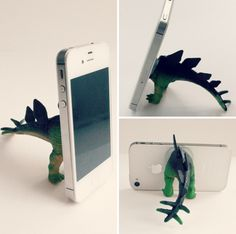 DIY Dino iPhone Tripod, from Eat Sleep Make