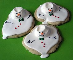 No recipe here, but these are truly too funny!  Melted snowman... get it? Melted... anyways...
