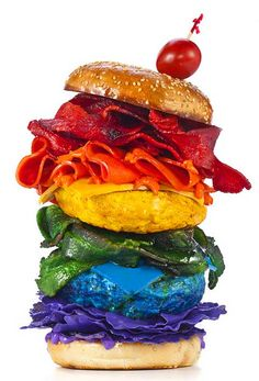 #Rainbow Food Photograph by Henry Hargreaves
